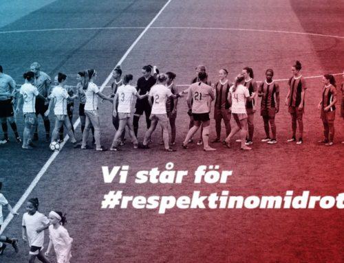 Signalera ut med idrottsorganisation för #respektinomidrott